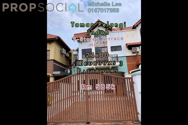 Terrace For Sale in Taman Pelangi Indah, Ulu Tiram Freehold Semi Furnished 4R/3B 585k