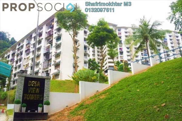 For Rent Condominium at Desa View Towers, Melawati Freehold Semi Furnished 4R/2B 1.35k