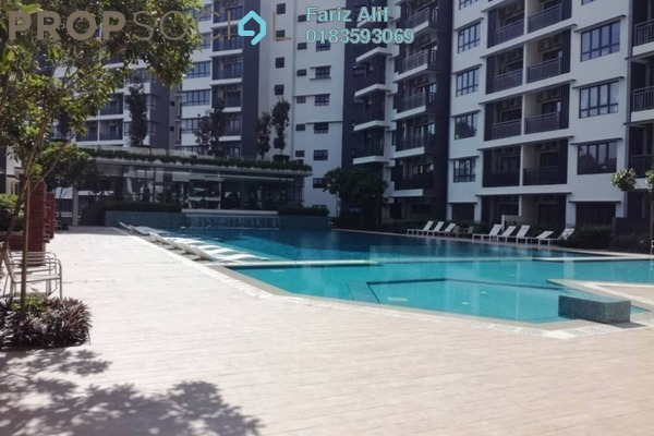 Condominium For Rent in Suria Residence, Bukit Jelutong Freehold Semi Furnished 2R/2B 1.8k