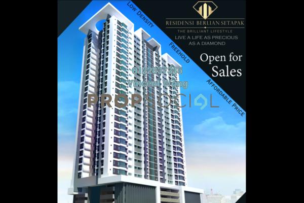 Condominium For Sale in Berlian Residence @ Setapak, Kuala Lumpur Freehold Semi Furnished 3R/2B 486k