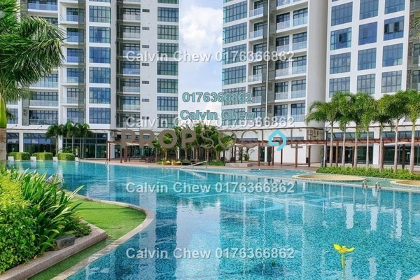 Serviced Residence For Sale in Green Haven, Johor Bahru Freehold Unfurnished 2R/2B 311k