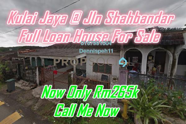 Terrace For Sale in Taman Kulai Utama, Kulai Freehold Unfurnished 3R/2B 265k