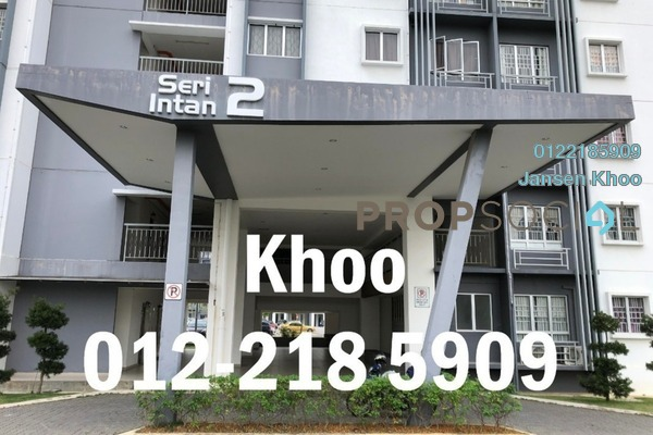 For Rent Apartment at Seri Intan Apartment, Setia Alam Freehold Semi Furnished 3R/2B 799translationmissing:en.pricing.unit