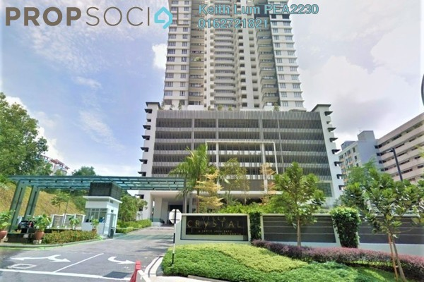 Condominium For Rent in Villa Crystal, Segambut Freehold Unfurnished 3R/3B 1.8k