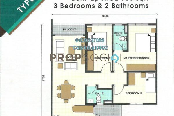 Apartment For Rent in Taman Desa, Kuala Lumpur Freehold Unfurnished 3R/2B 1.1k