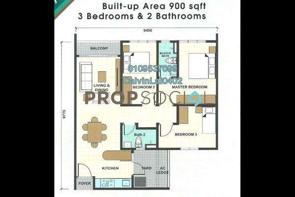 Condominium For Rent in Taman Desa, Kuala Lumpur Freehold Fully Furnished 3R/2B 1.6k