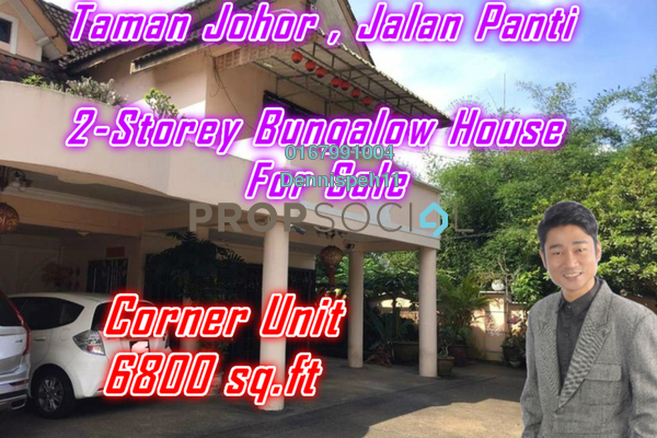 Bungalow For Sale in Taman Johor, Johor Bahru Freehold Semi Furnished 5R/4B 1m