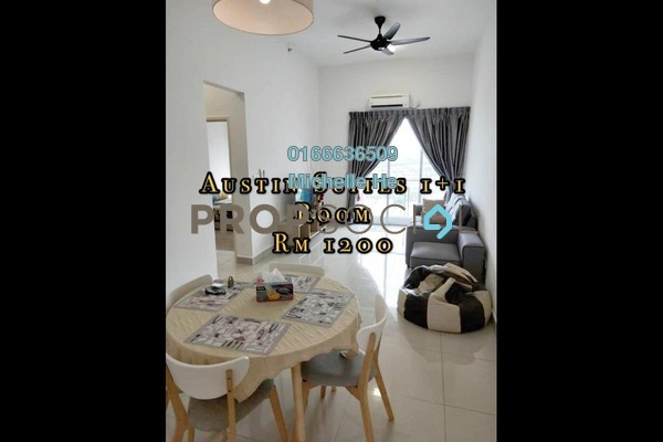 Apartment For Rent in Austin Suites, Tebrau Freehold Fully Furnished 2R/1B 1.2k