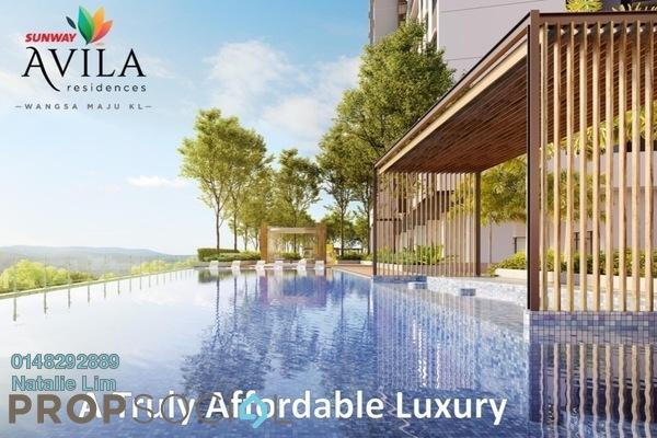 Condominium For Sale in Sunway Avila Residences, Wangsa Maju Freehold Unfurnished 3R/2B 637k