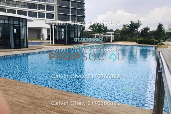 Serviced Residence For Sale in Bora Residences, Danga Bay Freehold Unfurnished 2R/2B 383k