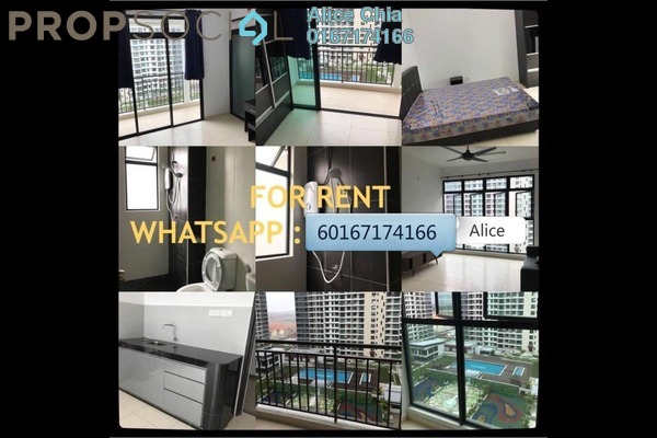 Condominium For Rent in The Garden Residences, Skudai Freehold Semi Furnished 1R/1B 1k