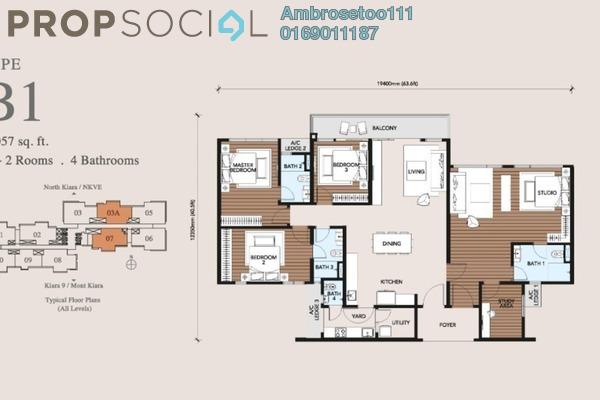 Condominium For Sale in Trinity Pentamont, Mont Kiara Freehold Semi Furnished 4R/4B 1.52m