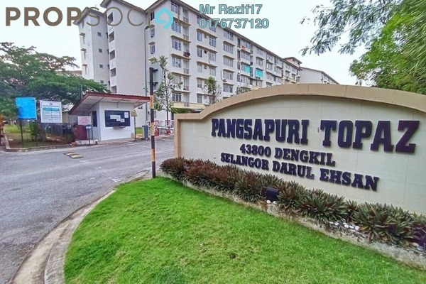 Apartment For Sale in Taman Topaz, Dengkil Freehold Unfurnished 3R/2B 220k