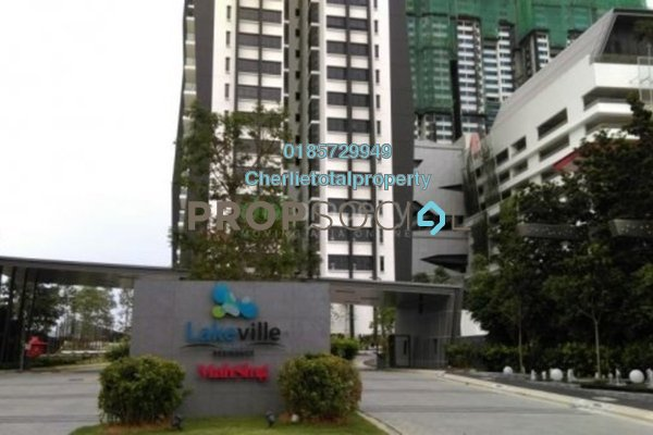 For Rent Condominium at Lakeville Residence, Jalan Ipoh Freehold Semi Furnished 3R/2B 1.6k