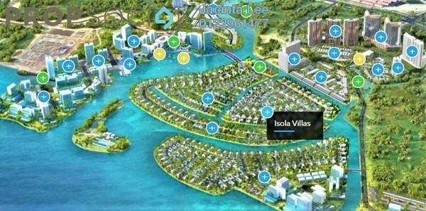 Semi-Detached For Sale in Senibong Cove, Bandar Baru Permas Jaya Freehold Semi Furnished 5R/6B 1.3m