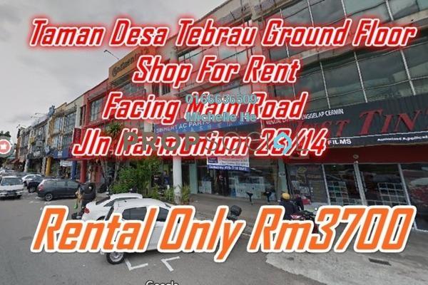 Shop For Rent in Taman Desa Tebrau, Tebrau Freehold Semi Furnished 0R/0B 3.7k