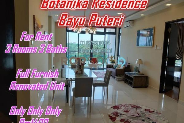 For Rent Condominium at Botanika, Johor Bahru Freehold Fully Furnished 3R/3B 1.4k
