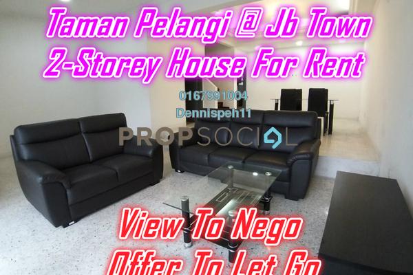 Terrace For Rent in Taman Pelangi, Johor Bahru Freehold Semi Furnished 4R/3B 2.2k