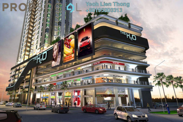 For Rent Shop at The H2O, Jelutong Freehold Unfurnished 0R/0B 12k