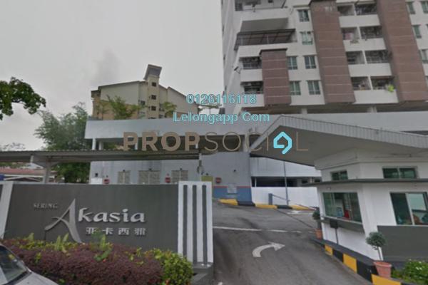 Condominium For Sale in Sering Akasia, Batu 9 Cheras Freehold Semi Furnished 4R/3B 418k