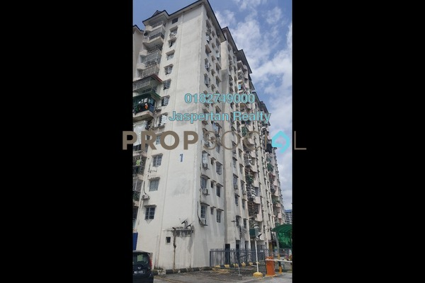 Apartment For Rent in Genting Court, Setapak Freehold Semi Furnished 3R/2B 1.1k