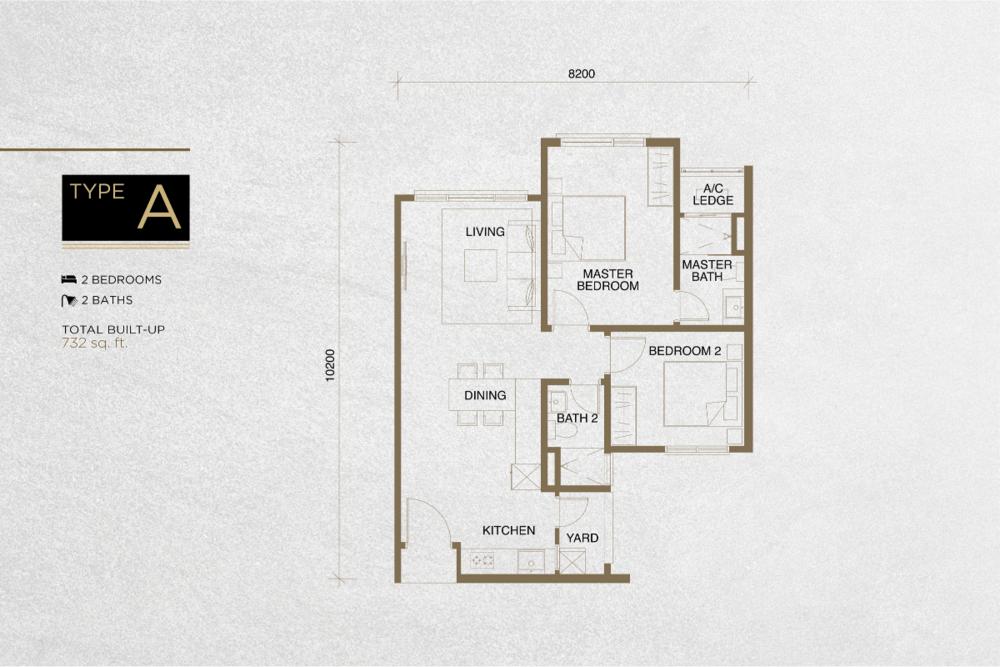 The Tropika Type A Floor Plan