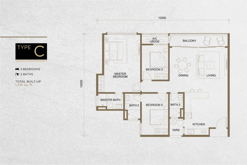 The Tropika Type C Floor Plan