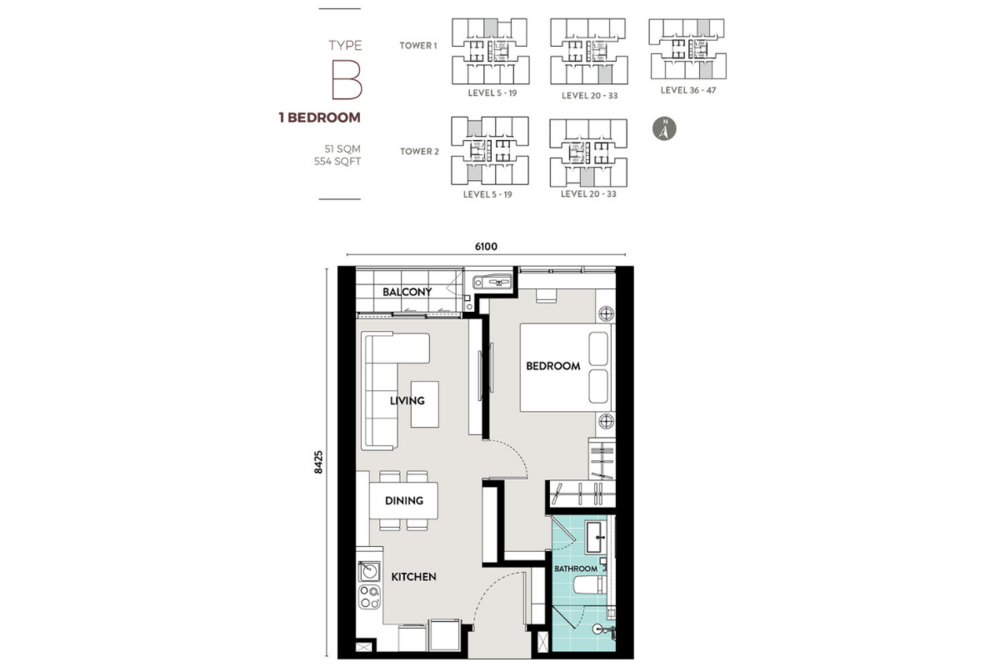Lucentia Residences Type B Floor Plan