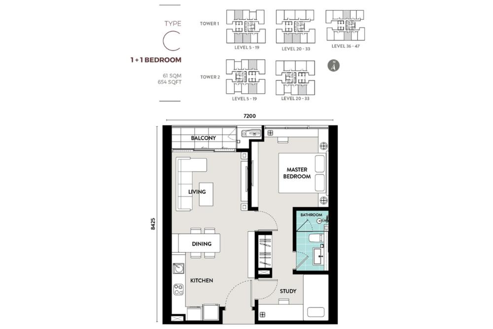 Lucentia Residences Type C Floor Plan