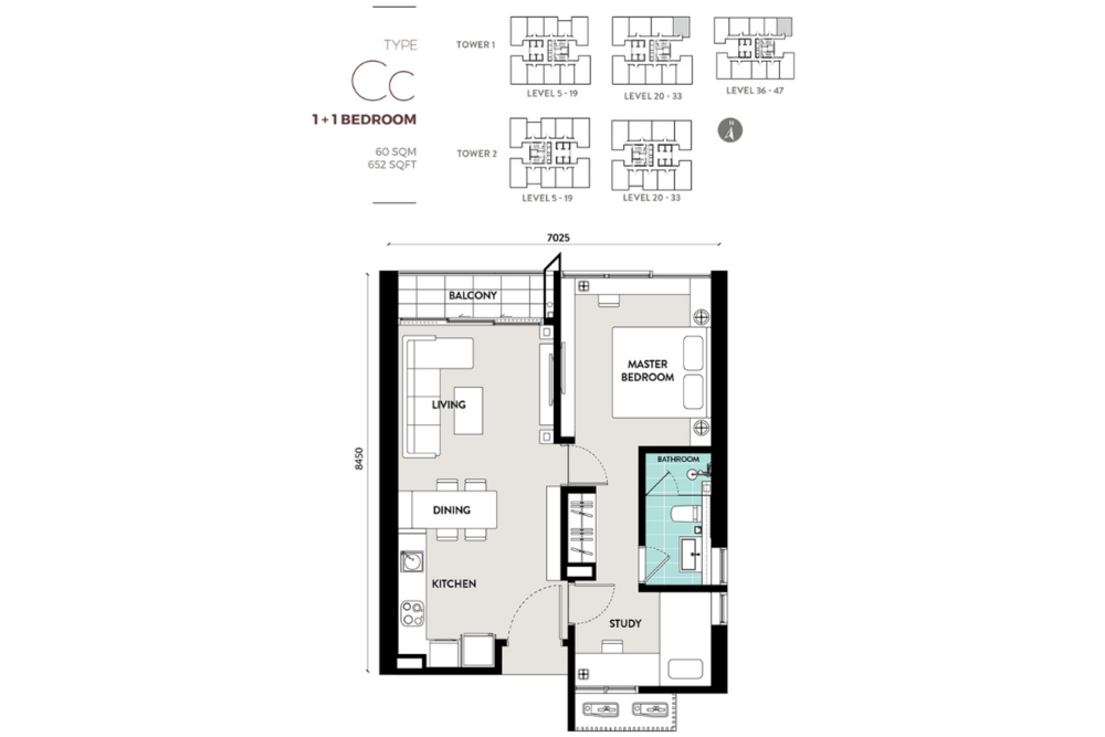 Lucentia Residences Type Cc Floor Plan