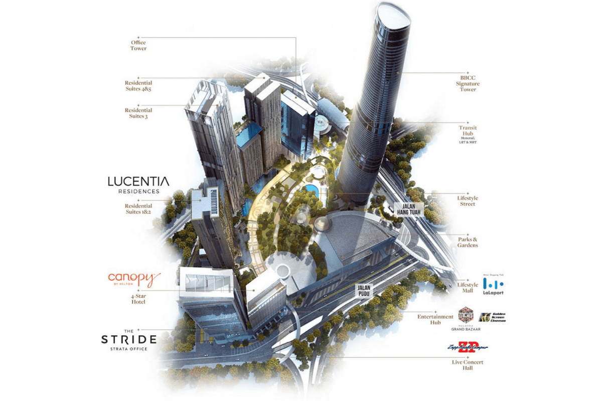 Master Plan of Lucentia Residences