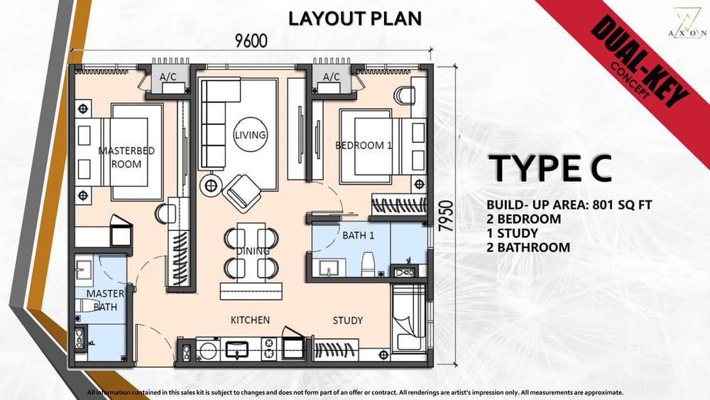 Axon Type C Floor Plan