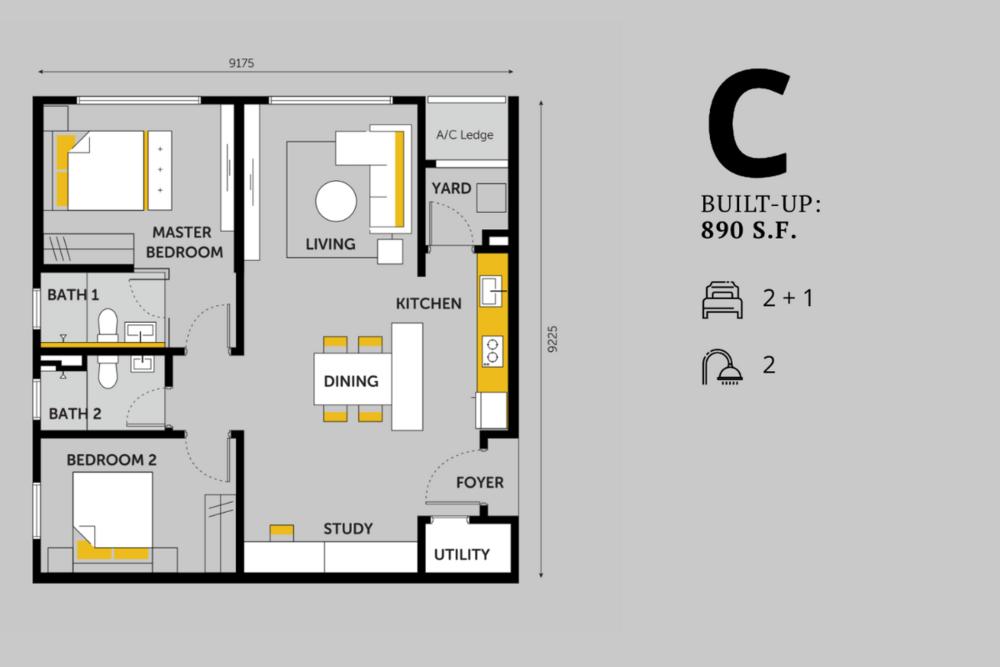 Emerald 9 Type C Floor Plan