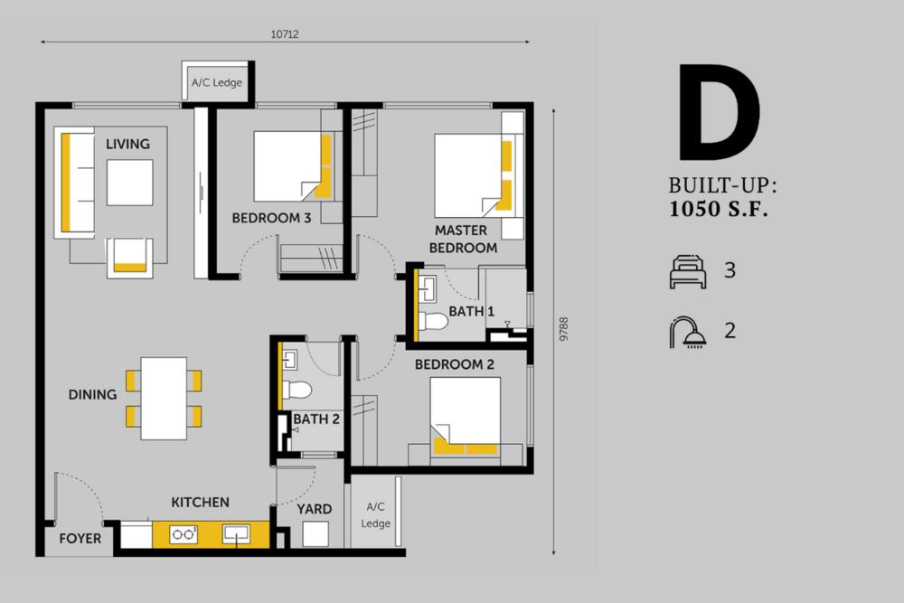 Emerald 9 Type D Floor Plan