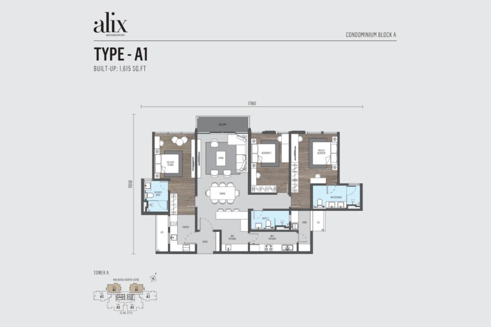 Alix Residences Type A1 Floor Plan