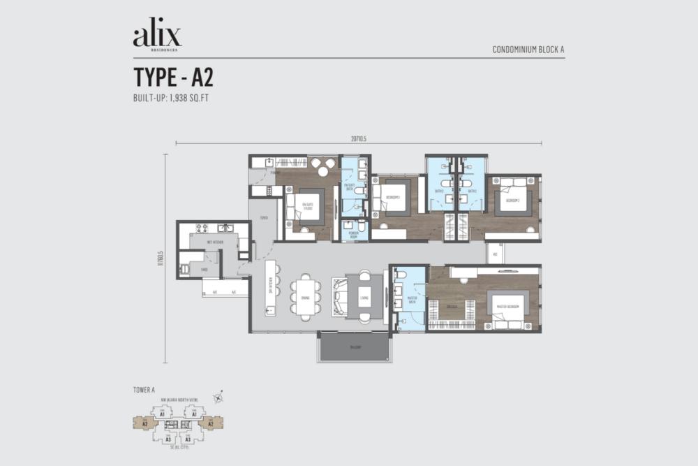Alix Residences Type A2 Floor Plan
