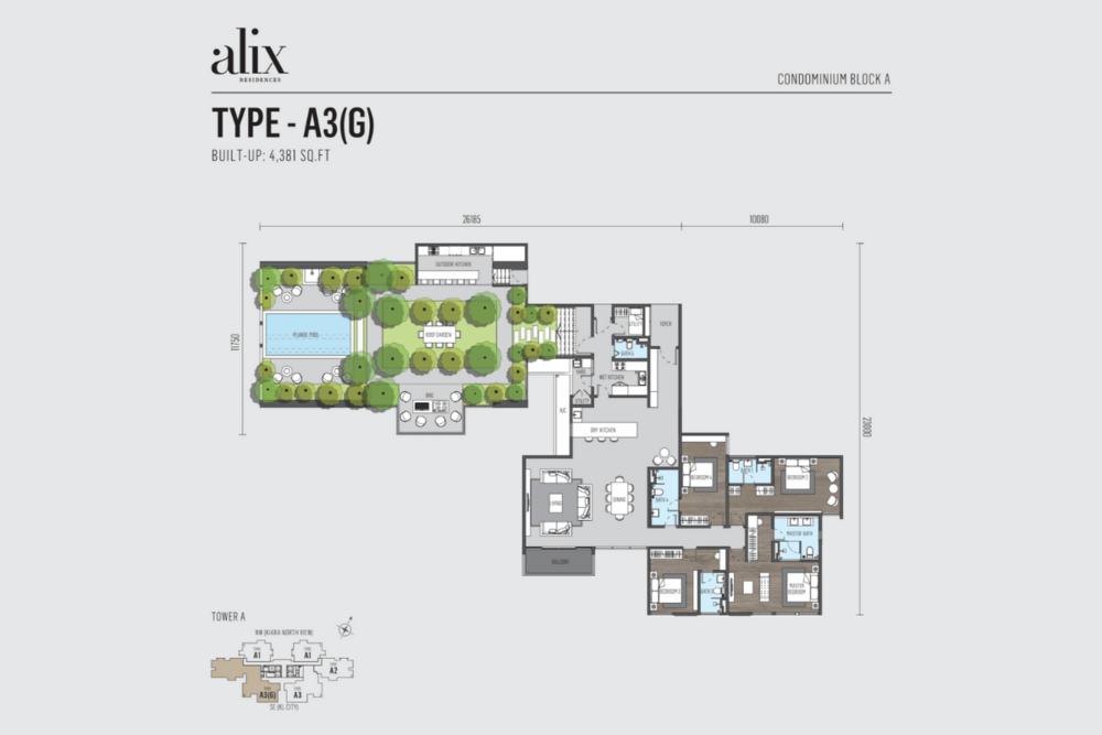 Alix Residences Type A3 (G) Floor Plan