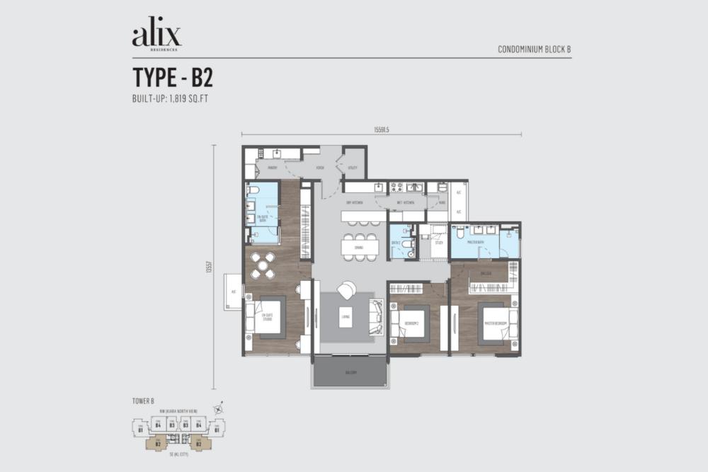 Alix Residences Type B2 Floor Plan
