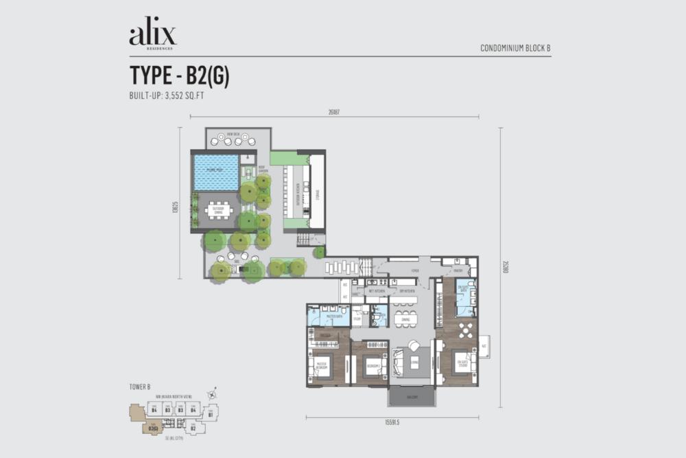 Alix Residences Type B2 (G) Floor Plan