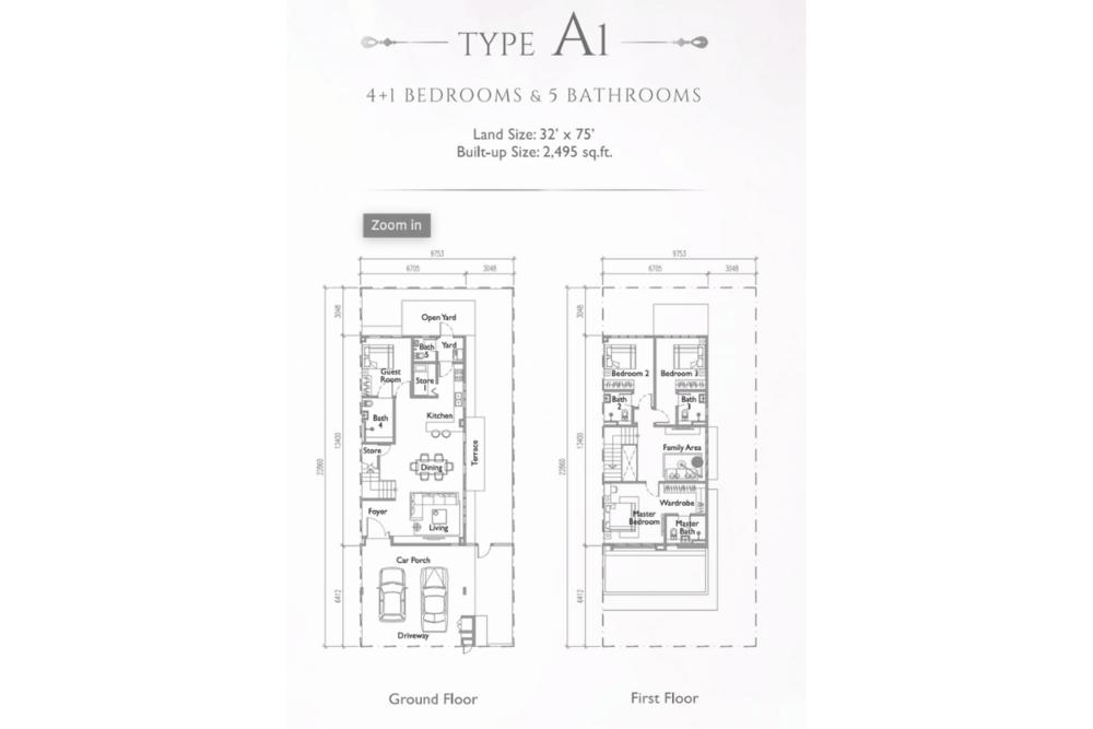 Precinct Arundina @ Setia Eco Park Type A1 (Plathea) Floor Plan
