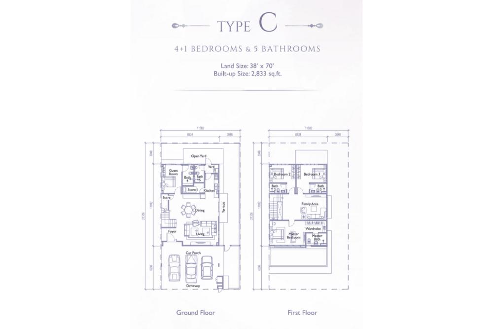Precinct Arundina @ Setia Eco Park Type C (Plathea) Floor Plan