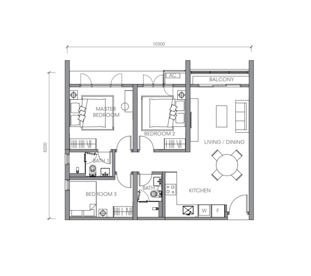 BloomsVale Type A1 Floor Plan