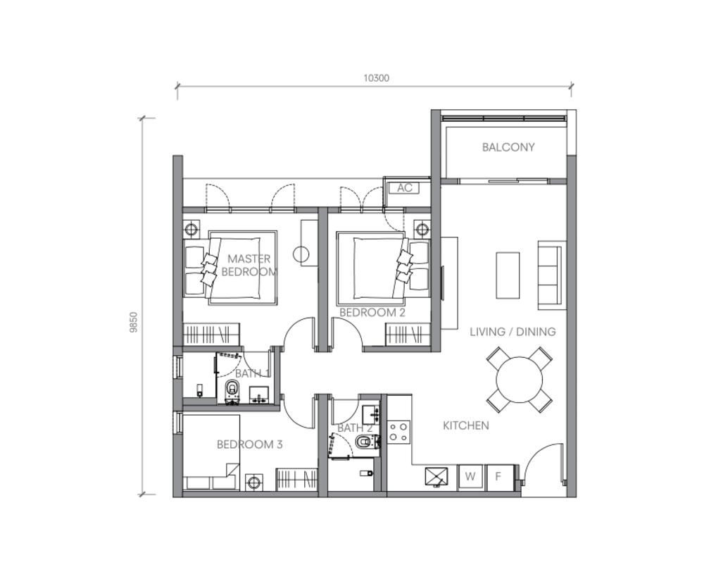 BloomsVale Type A2 Floor Plan