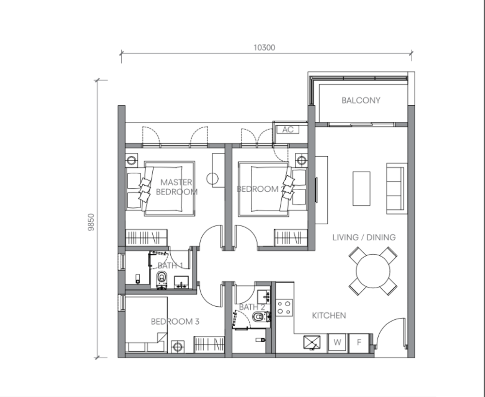BloomsVale Type A2-A Floor Plan
