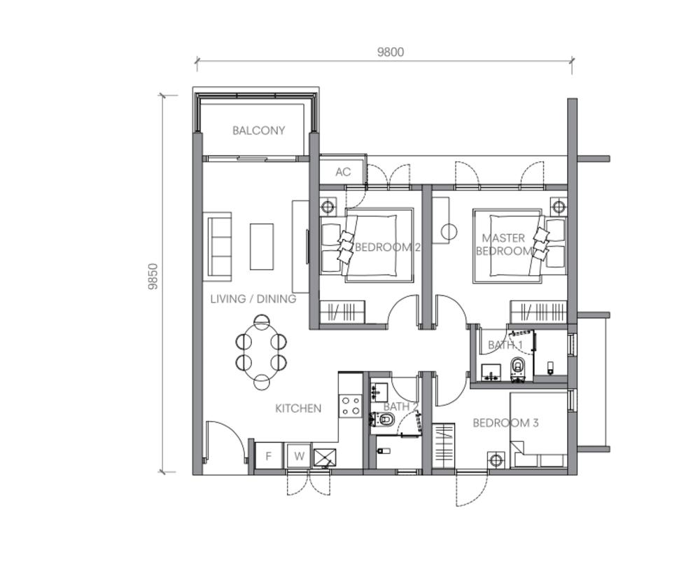 BloomsVale Type B4-A Floor Plan