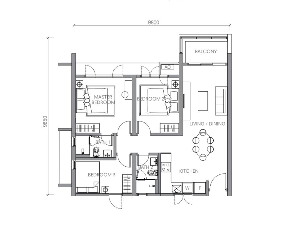 BloomsVale Type B4-B Floor Plan