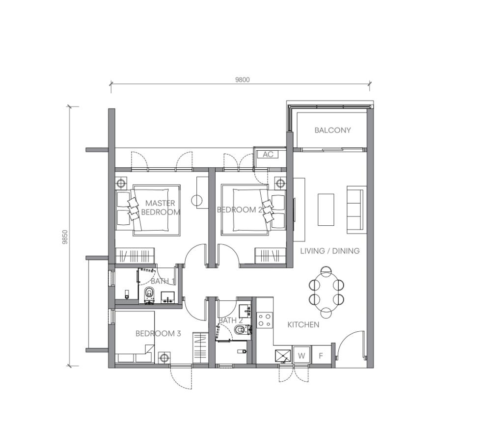 BloomsVale Type C2 Floor Plan