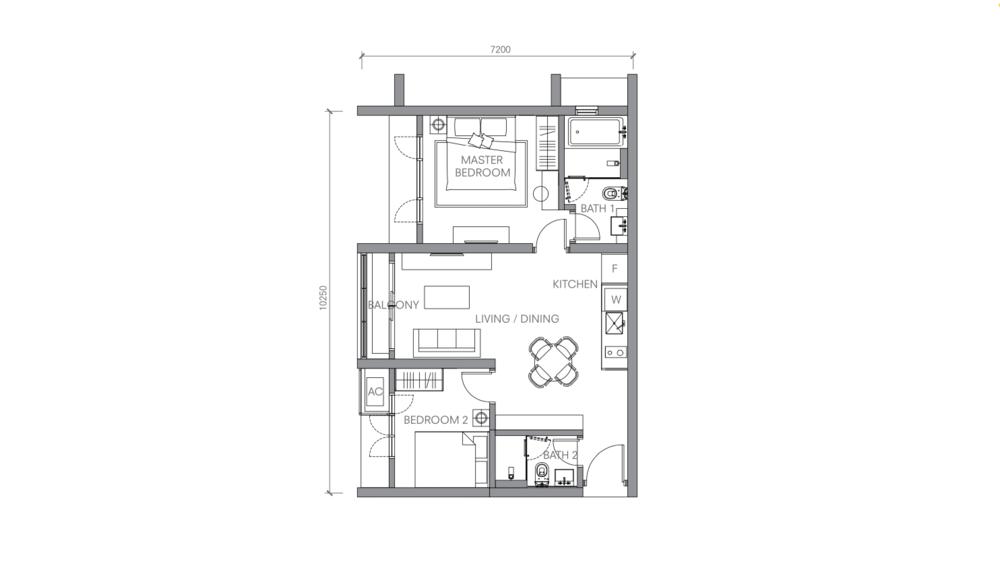 BloomsVale Type D1 Floor Plan