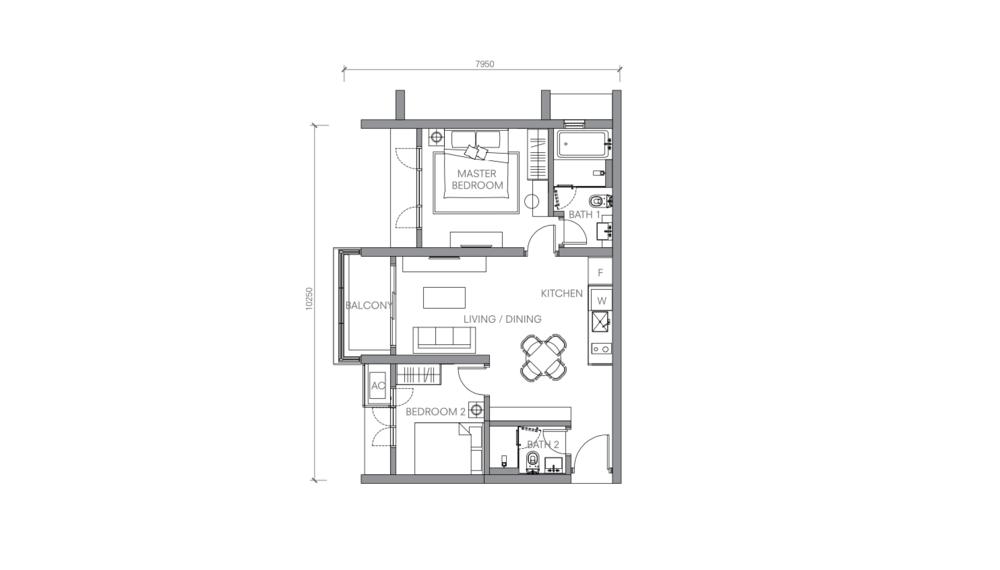 BloomsVale Type D2 Floor Plan
