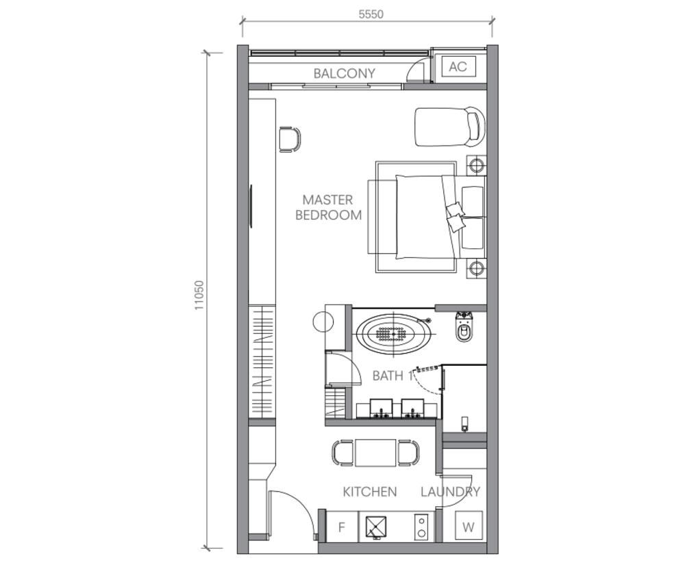 BloomsVale Type E2 Floor Plan
